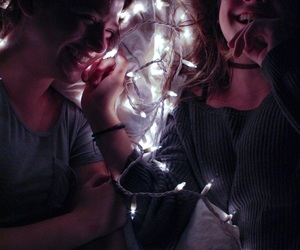 best friends, lights, and photography image