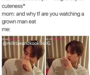 food, funny, and jin image