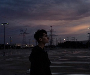 boy, city, and clouds image