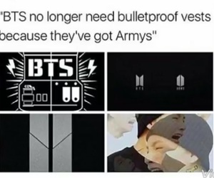 army, bts, and bulletproof vest image