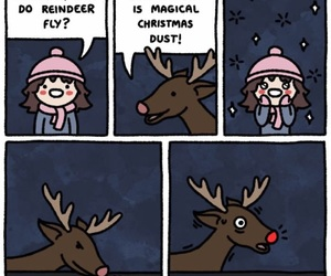 christmas, funny, and reindeer image