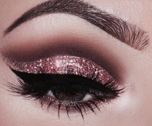 beauty, makeup, and rose gold image