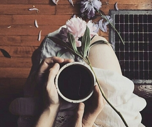 aesthetic, character, and coffee image