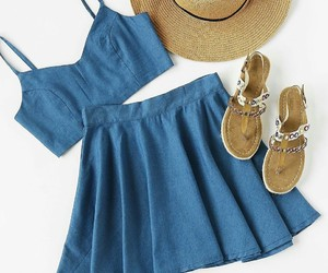 aesthetic, hat, and sandals image