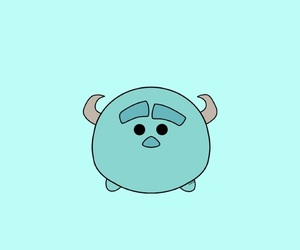wallpaper, monster inc, and tsum tsum image