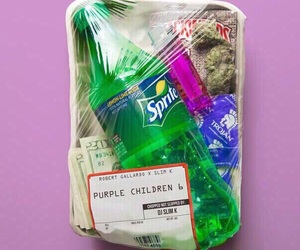weed, purple, and sprite image