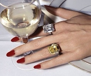 nails, wine, and rings image