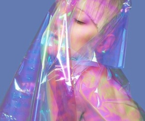 grunge, holographic, and blue image