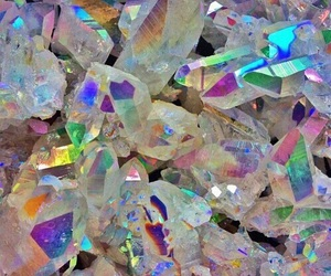 holographic, rainbow, and crystal image