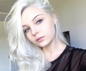 blue eyes, hairstyle, and pale girl image