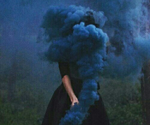 blue, smoke, and grunge image