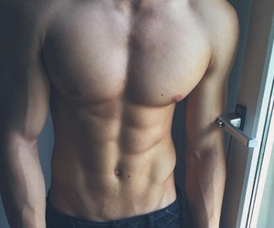 boy, abs, and guy image