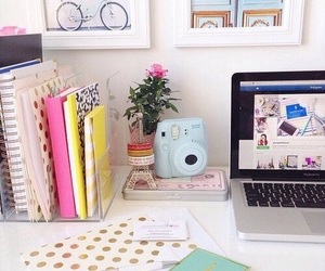 room, laptop, and decor image