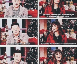 monchele, glee, and lea michele image