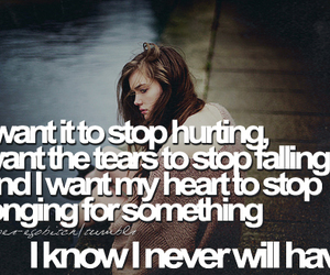girl, quote, and hurting image