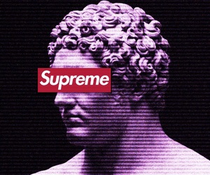 aesthetic, black, and supreme image