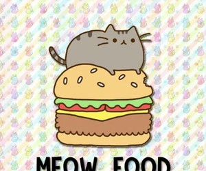 cat, food, and background image
