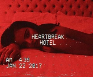 red, aesthetic, and heartbreak image