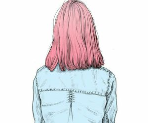 girl, pink, and art image