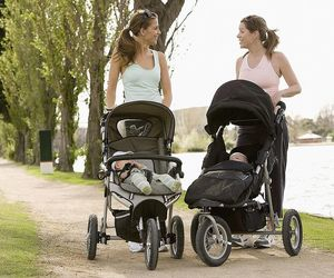 baby, stroller, and baby care image