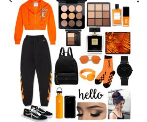 black, goals, and orange image