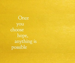 hope, quotes, and yellow image