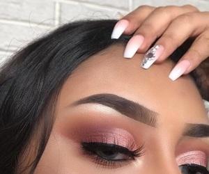 makeup, girl, and eyes image