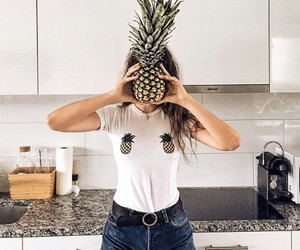 cool, pineapple, and fruit image