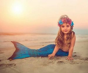 beach, mermaid, and mermaids image