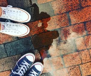 brick, rain, and shoes image
