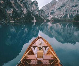 lake, photography, and italy image