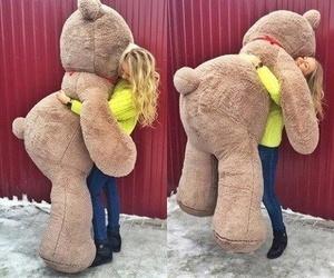 love, bear, and hug image