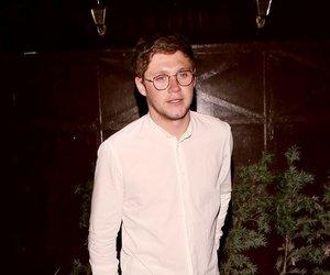 brunette, glasses, and shirt image