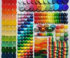 candy, colors, and rainbow image