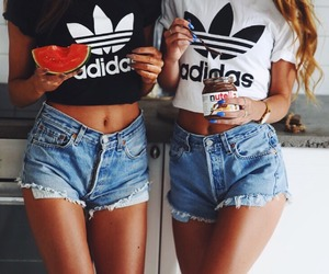 adidas, summer, and nutella image