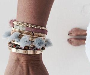 bracelet, girl, and style image