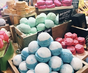 bath, bath bombs, and colorful image