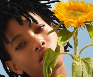 beautiful, dreads, and sunflower image