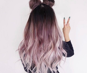 aesthetic, buns, and color image