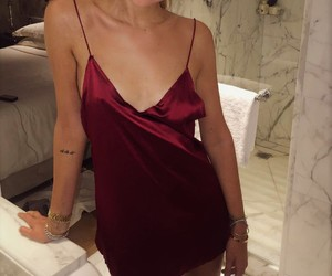 red, dress, and chiara ferragni image