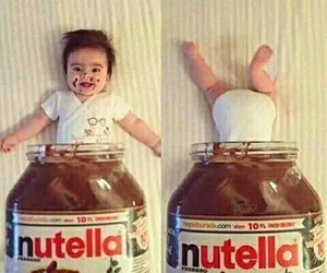 baby, soo cute, and nutella image