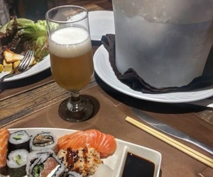 beer, food, and japanese image