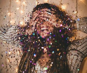 girl, glitter, and party image