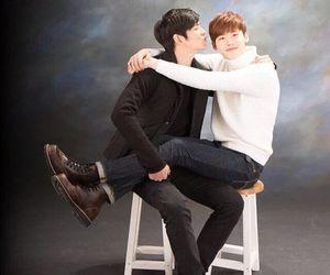 lee jong suk, yoon kyun sang, and korean image