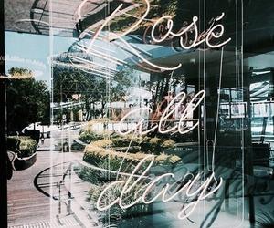 summer, rose, and lights image