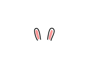 bunny, draw, and ears image