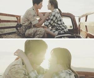 couple, dots, and kiss image