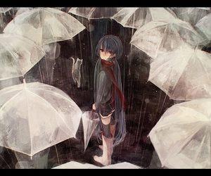 rain, anime, and umbrella image
