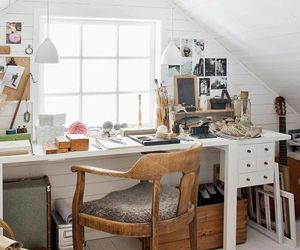 art, artist studio, and home office image