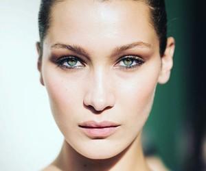 bella hadid, make up, and model image